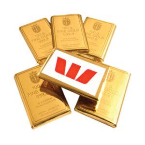 Promotional Chocolate Gold Bullion